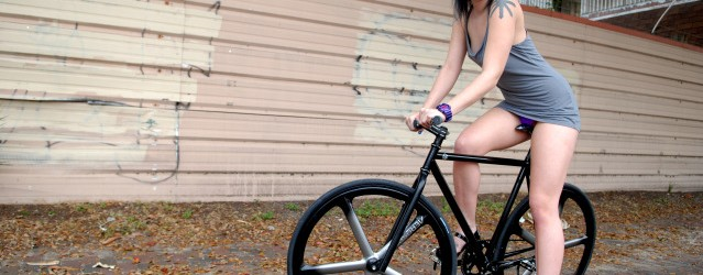 We met up with Lauren and her dope custom built Pake from 66Fixed.. sportin a miche crank set, special edition Aerospoke's just a few touches of her sick murdered out...