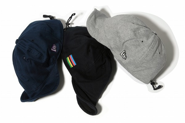 New Era Japan released new messenger style caps made out of fleece with a  toggle elastic closure. Available in three colors. 90aad9c6bcb